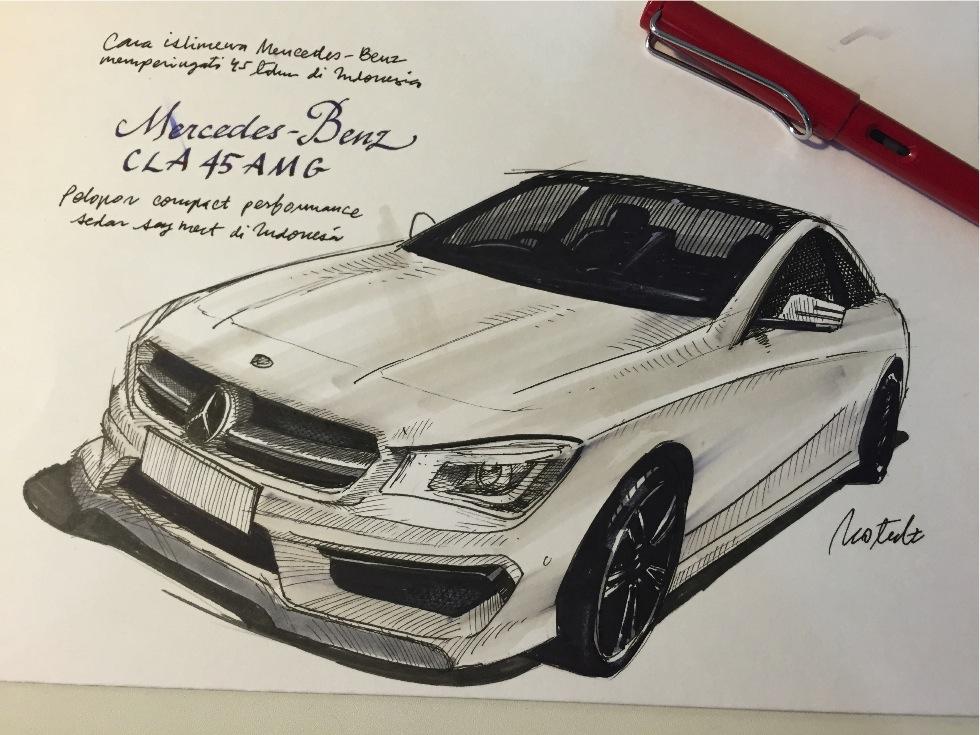 Mercedes-Benz CL 45 AMG (Ilustrasi oleh @motulz)
